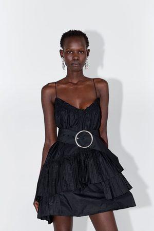 Zara Sukienka mini z paskiem