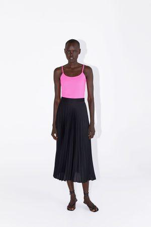 Zara Koszulka z tkaniny elastycznej na ramiączkach