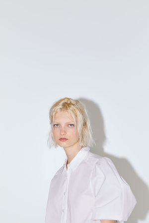 Zara Popelinowa bluzka o krótszym kroju