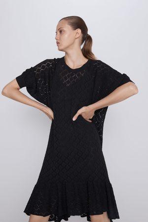 Zara Sukienka wykonana ściegiem pointelle