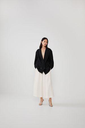 Zara Spodnie typu culotte w stylu rustykalnym