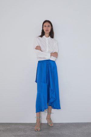 Zara Asymetryczna spódnica z tkaniny satynowanej