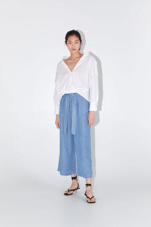 Zara Spodnie typu culotte o kroju paperbag