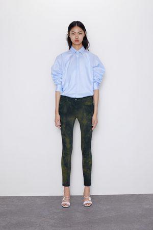 Zara Jeans z1975 mid rise skinny tie dye