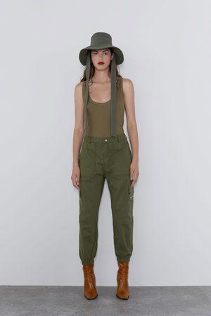 Zara Spodnie cargo z kieszeniami