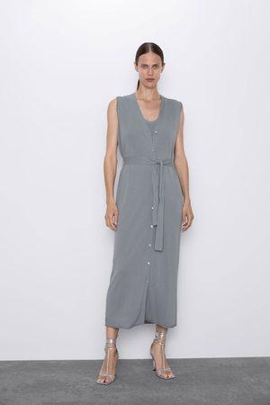 Zara Dzianinowa sukienka o kroju kamizelki