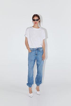 Zara Spodnie jeansowe typu jogger zw premium