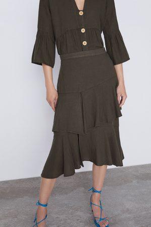 Zara Spódnica z falbankami