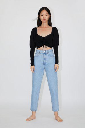 Zara Kobieta Jeansy - Spodnie jeansowe typu mom fit