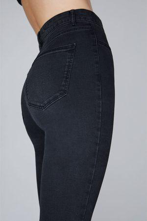 Zara Jegginsy z wysokim stanem z wysokoelastycznej tkaniny i rozdarciami