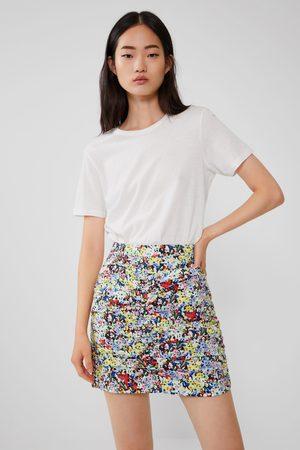 Zara Kobieta Spódnice z nadrukiem - Spódnica mini z nadrukiem