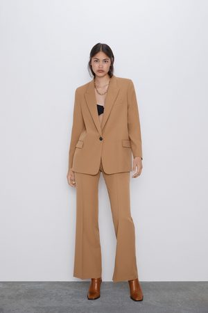Zara Spodnie z rozszerzanymi nogawkami