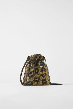 Zara Torba typu worek z koralikami