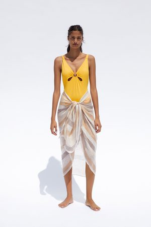 Zara Kostium kąpielowy z okrągłym elementem