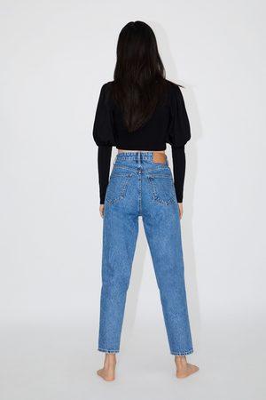 Zara Spodnie jeansowe typu mom fit