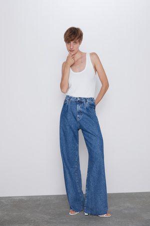 Zara Spodnie jeansowe zw premium wide leg