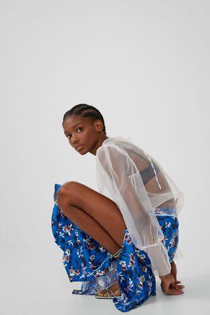 Zara Wzorzysta spódnica