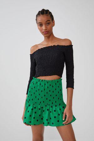 Zara Spódnica mini w kropki