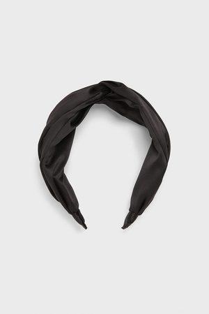 Zara Satynowana opaska na włosy z ozdobnym węzłem