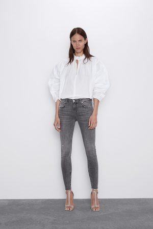 Zara Spodnie jeansowe zw premium skinny arctic grey