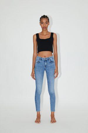 Zara Spodnie ze średnim stanem typu sculpt