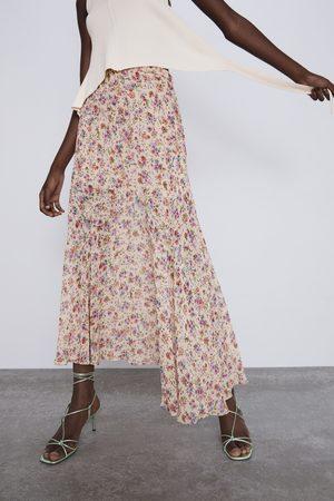 Zara Spódnica z nadrukiem w kwiaty