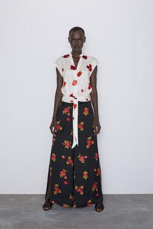 Zara Spodnie w róże