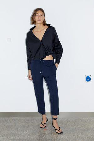 Zara Spodnie z gumką w pasie