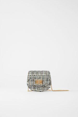 Zara Tweedowa mini torebka listonoszka