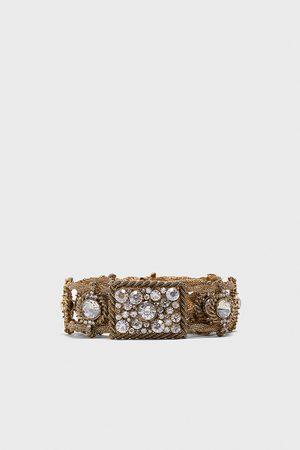 Zara Metalowy pasek z biżuteryjnymi zdobieniami