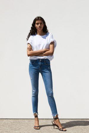 Zara Spodnie jeansowe zw premium skinny cies blue