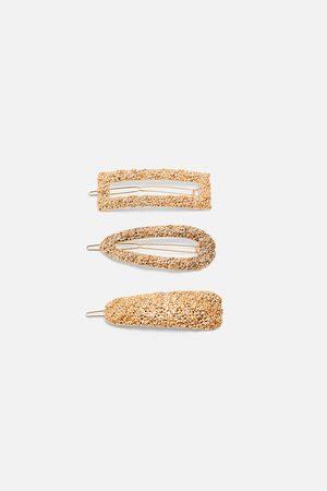 Zara Komplet spinek z teksturowanym wykończeniem