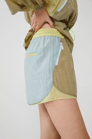 Zara Wielobarwne nylonowe spodenki