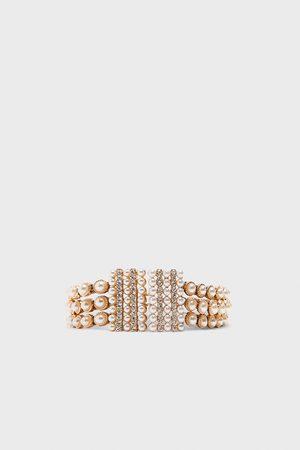 Zara Pasek ze sztucznymi perłami