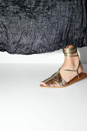 sandały rzymianki damskie skórzane zara
