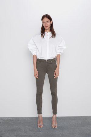 Zara Spodnie jeansowe zw premium skinny taupe