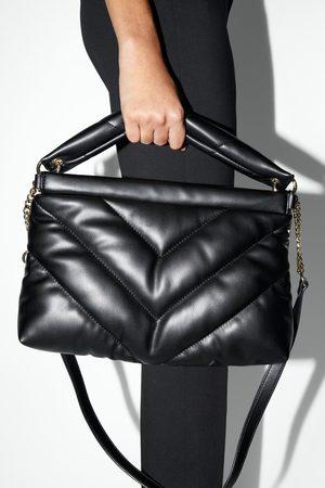 Zara Duża pikowana torba listonoszka