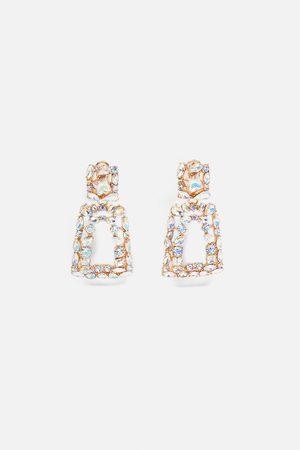 Zara Biżuteryjne kolczyki o geometrycznym kształcie