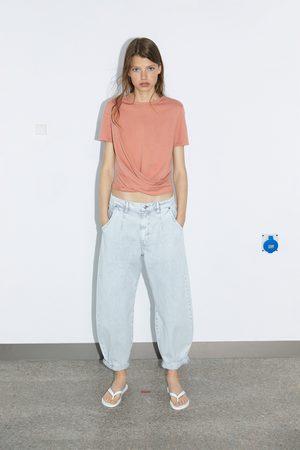 Zara Kobieta Z krótkim rękawem - Koszulka kopertowa