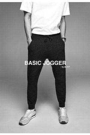 Zara Mężczyzna Spodnie dresowe - Spodnie joggery z kolekcji basic