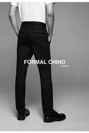 Zara Dopasowane spodnie chinosy