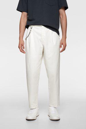 Zara Mężczyzna Chinosy - Spodnie chinosy w stylu lat 80-tych
