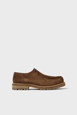 Zara Skórzane beżowe buty