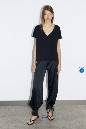 Zara Koszulka z dekoltem w serek