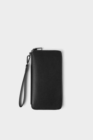 Zara Elegancki portfel xl z tłoczeniami