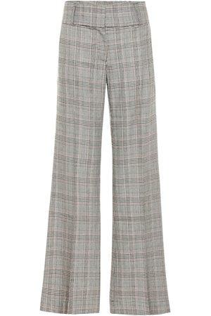 Frame Kobieta Spodnie z szeroką nogawką - Metropolitan checked wide-leg pants