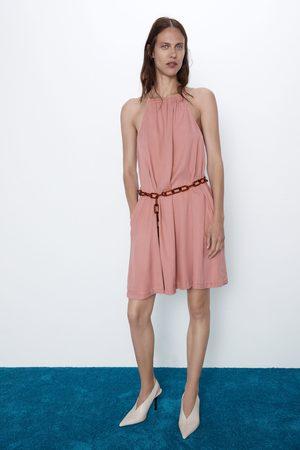 Zara Sukienka z łańcuszkowym paskiem