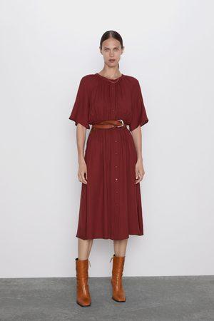 Zara Sukienka z marszczeniami