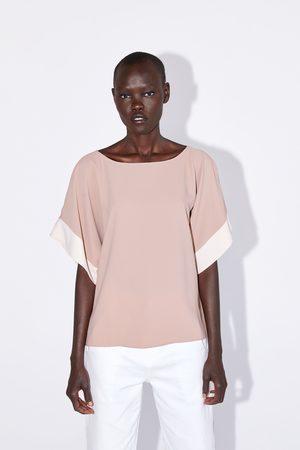 Zara Bluzka ze wstawką w innym kolorze