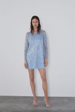 Zara Sukienka z cekinami